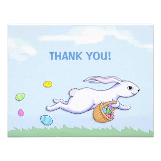 Cartões de agradecimentos do partido da páscoa do