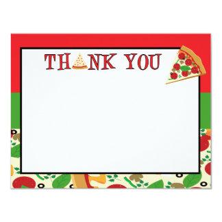 Cartões de agradecimentos do partido da pizza convite 10.79 x 13.97cm