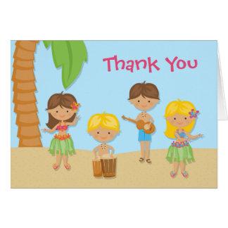 Cartões de agradecimentos do partido de Luau