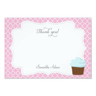 Cartões de agradecimentos do partido do cupcake convite personalizado