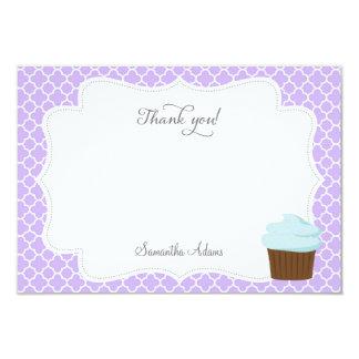 Cartões de agradecimentos do partido do cupcake convite personalizados