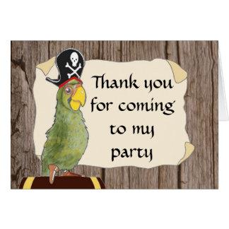 Cartões de agradecimentos do partido do pirata