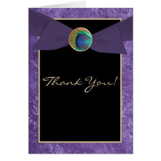 Cartões de agradecimentos do pavão do botão