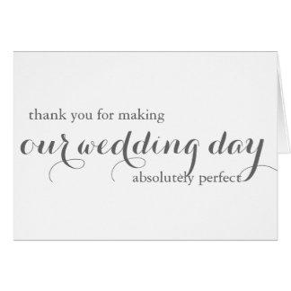 Cartões de agradecimentos do planejador do