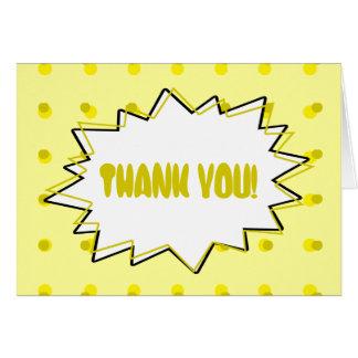 Cartões de agradecimentos do pop art - reticulação