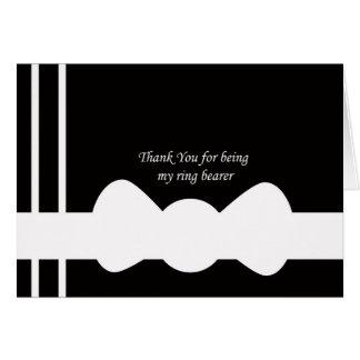 Cartões de agradecimentos do portador de anel
