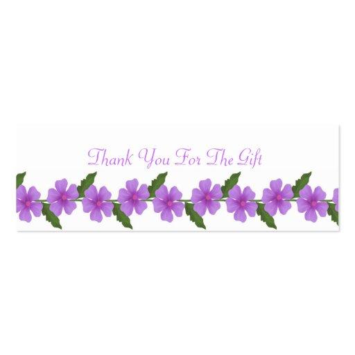 Cartões de agradecimentos do presente de casamento modelo cartões de visitas