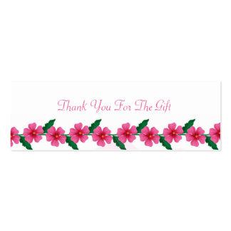 Cartões de agradecimentos do presente de casamento cartão de visita skinny