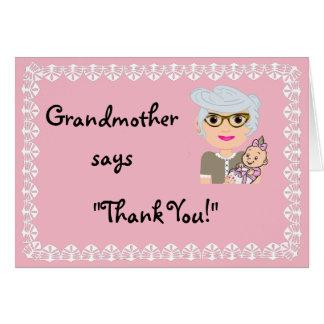 Cartões de agradecimentos do presente do chá da