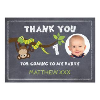 Cartões de agradecimentos do primeiro aniversario convite 11.30 x 15.87cm