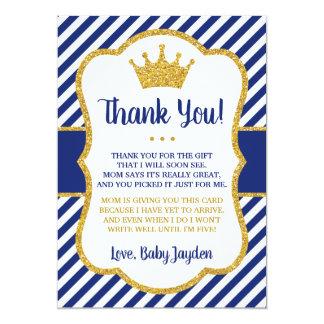 Cartões de agradecimentos | do príncipe chá de