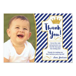 Cartões de agradecimentos do príncipe Primeiro Convite 12.7 X 17.78cm