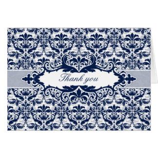Cartões de agradecimentos do quadro do damasco & d