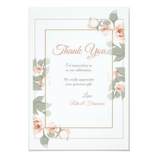 Cartões de agradecimentos do quadro do rosa do