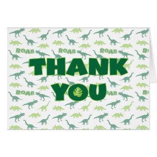Cartões de agradecimentos do rugido do dinossauro