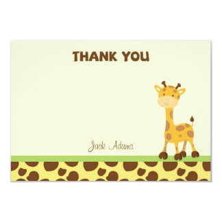 Cartões de agradecimentos do safari convite 8.89 x 12.7cm