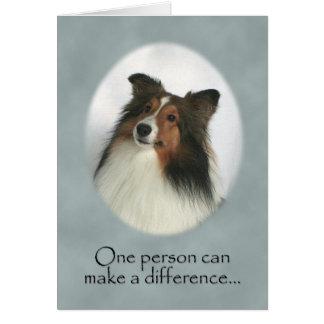 Cartões de agradecimentos do Sheepdog de Shetland