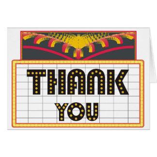 Cartões de agradecimentos do sinal de néon