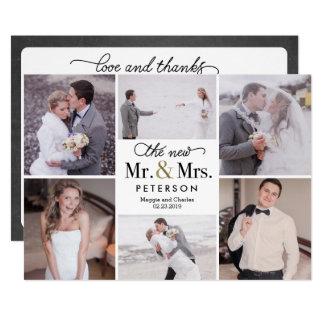 Cartões de agradecimentos do Sr. novo e da Sra.