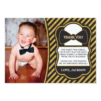 Cartões de agradecimentos do Sr. ONEderful Convite 12.7 X 17.78cm
