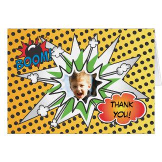 Cartões de agradecimentos do super-herói da banda