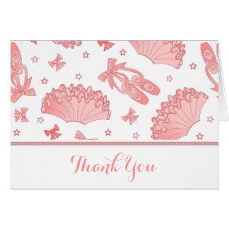 Cartões de agradecimentos do tema do balé