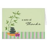 Cartões de agradecimentos do tema dos termas