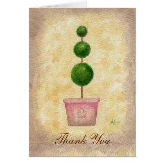 Cartões de agradecimentos do Topiary do globo