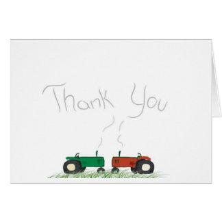 Cartões de agradecimentos do trator