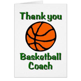 cartões de agradecimentos do treinador de beisebol