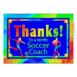 Cartões de agradecimentos do treinador do futebol