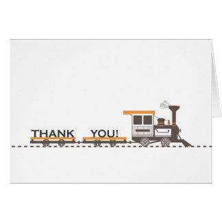 Cartões de agradecimentos do trem