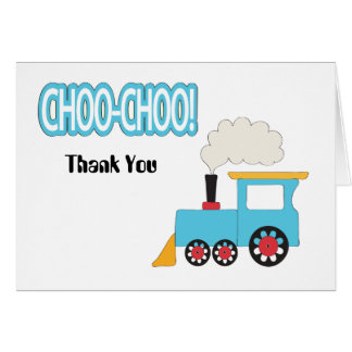 Cartões de agradecimentos do trem de Choo Choo