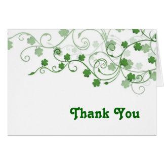 Cartões de agradecimentos do trevo