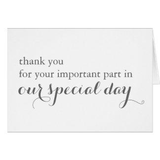 Cartões de agradecimentos do vendedor do dia do