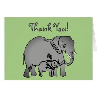 Cartões de agradecimentos do verde da arte do