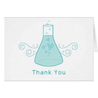 Cartões de agradecimentos doces da química do Aqua