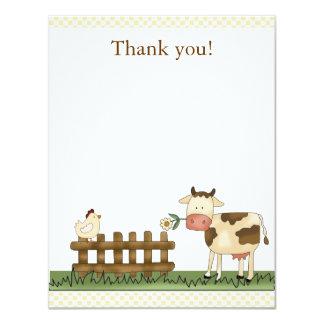 Cartões de agradecimentos doces Home 4,25 x 5,5 da Convites Personalizado