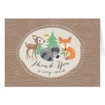 Cartões de agradecimentos dos amigos da floresta