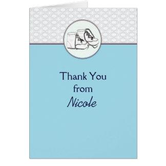 Cartões de agradecimentos dos calçados de bebê