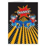 Cartões de agradecimentos dos gêmeos do super-heró