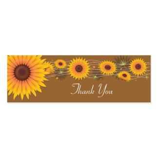 Cartões de agradecimentos dos girassóis