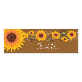 Cartões de agradecimentos dos girassóis cartão de visita skinny