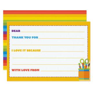 Cartões de agradecimentos dos miúdos convite 12.7 x 17.78cm