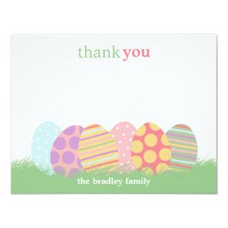 Cartões de agradecimentos dos ovos da páscoa ou convite 10.79 x 13.97cm