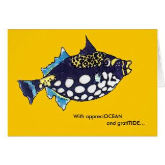 Cartões de agradecimentos dos peixes dos desenhos