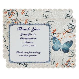 Cartões de agradecimentos dos redemoinhos da convite 12.7 x 17.78cm