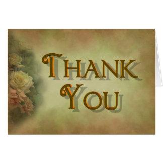 Cartões de agradecimentos dos rosas