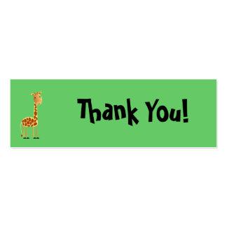 Cartões de agradecimentos dos salpicos cartão de visita skinny