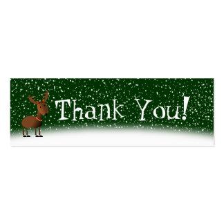Cartões de agradecimentos dos tinir cartões de visita